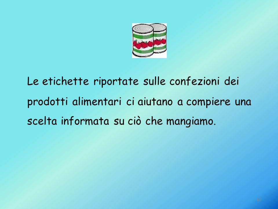 Le etichette riportate sulle confezioni dei prodotti alimentari ci aiutano a compiere una scelta informata su ciò che mangiamo.