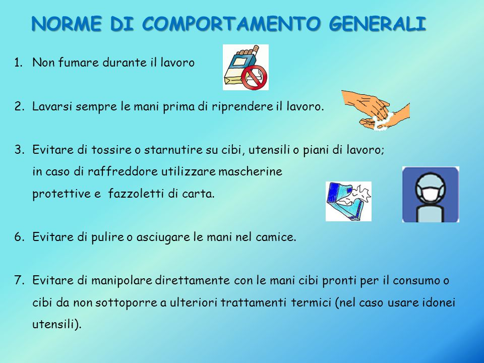 NORME DI COMPORTAMENTO GENERALI