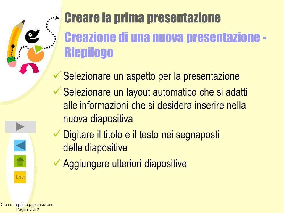 Creare la prima presentazione Pagina 9 di 9