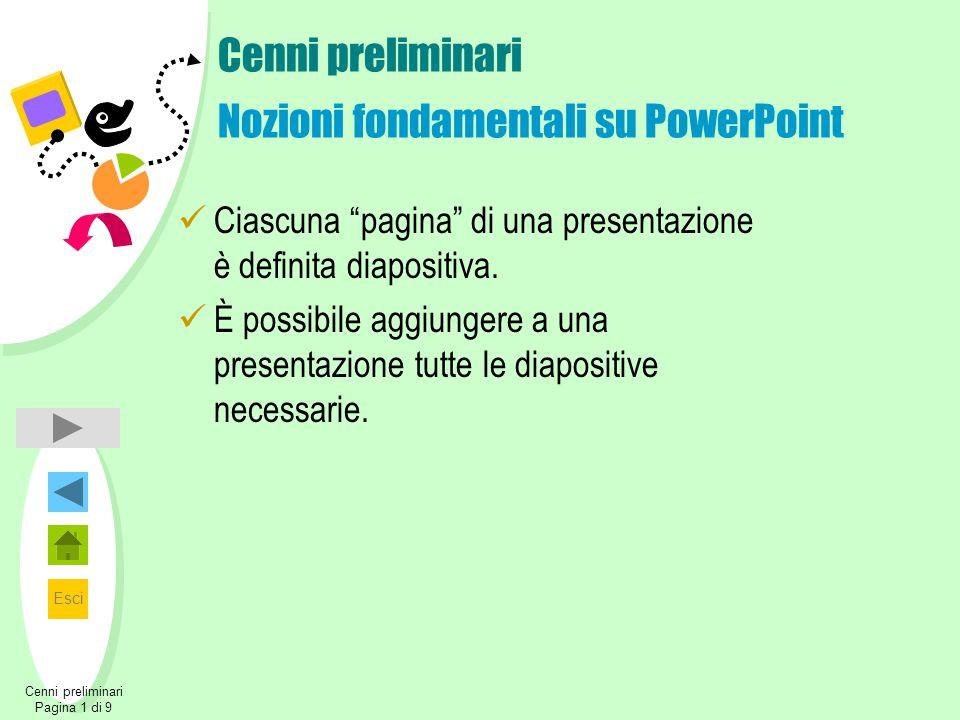 Cenni preliminari Nozioni fondamentali su PowerPoint