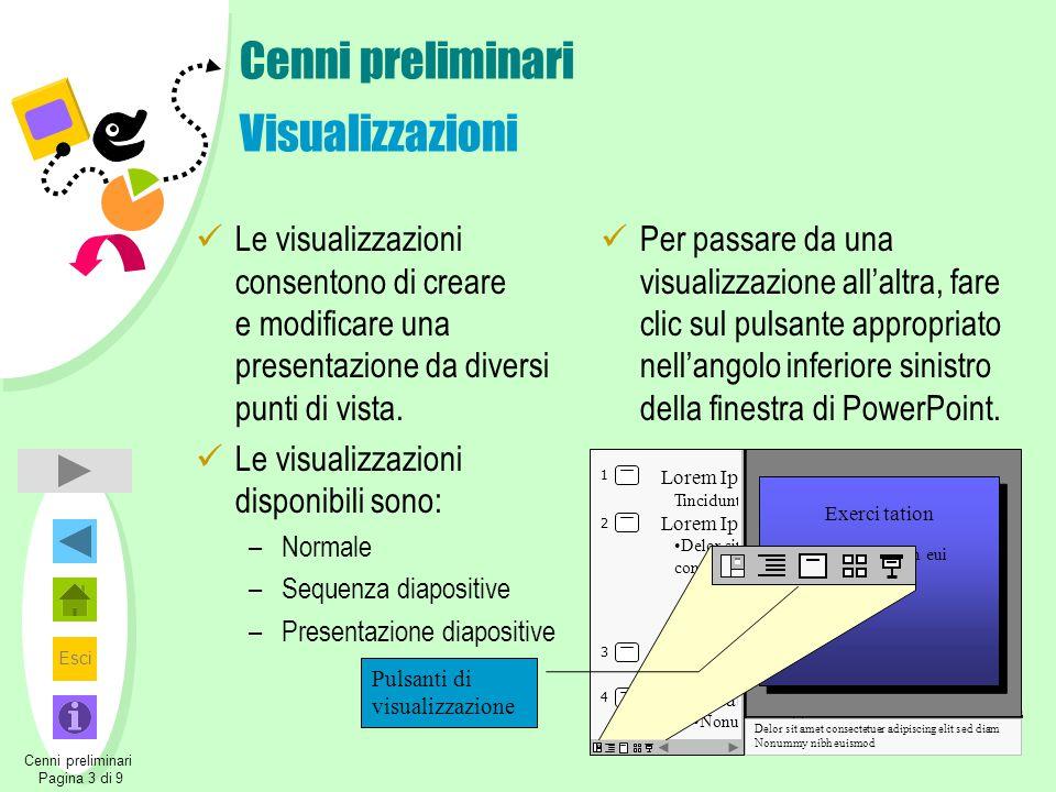 Cenni preliminari Visualizzazioni