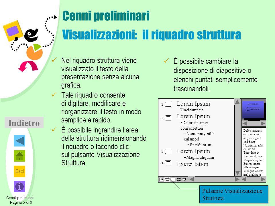 Cenni preliminari Visualizzazioni: il riquadro struttura
