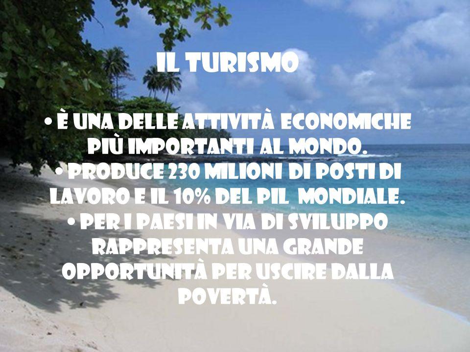 IL TURISMO È una delle attività economiche più importanti al mondo.