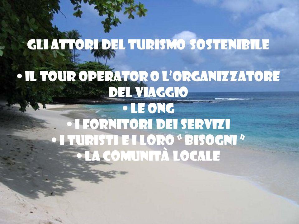 Gli attori del turismo sostenibile