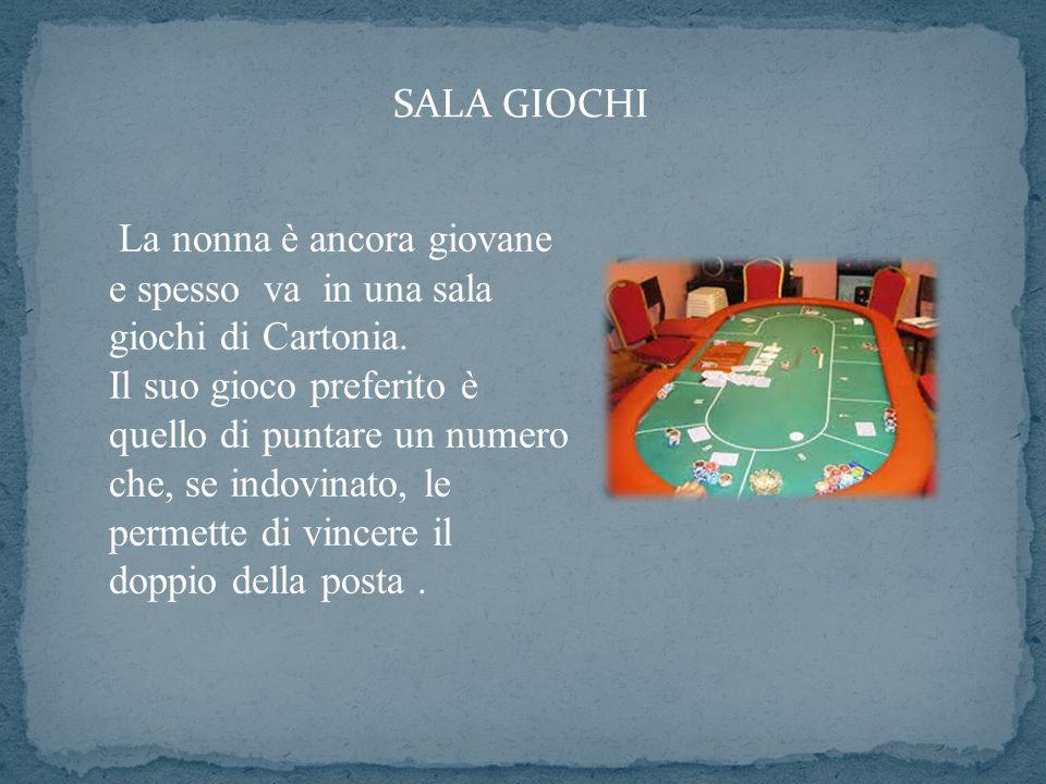SALA GIOCHI La nonna è ancora giovane e spesso va in una sala giochi di Cartonia.