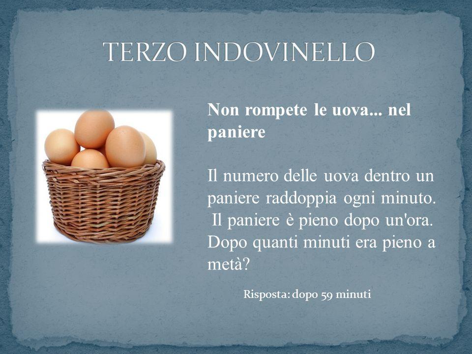 TERZO INDOVINELLO Non rompete le uova... nel paniere