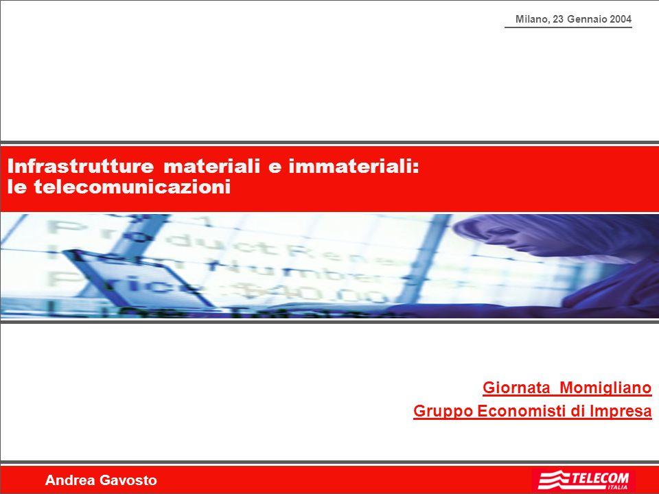 Infrastrutture materiali e immateriali: le telecomunicazioni