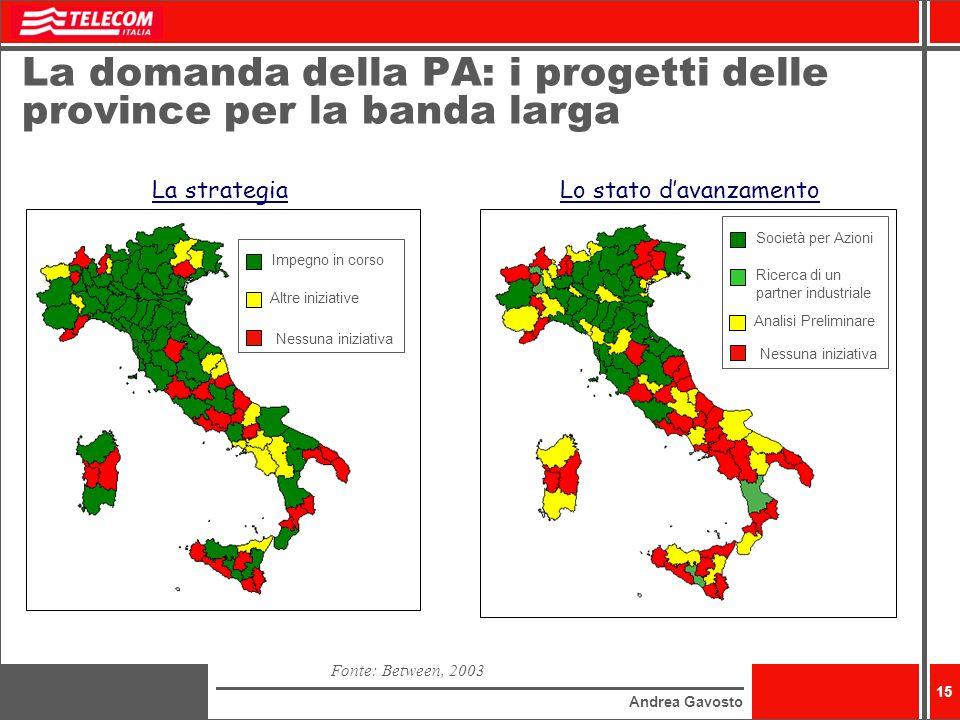 La domanda della PA: i progetti delle province per la banda larga