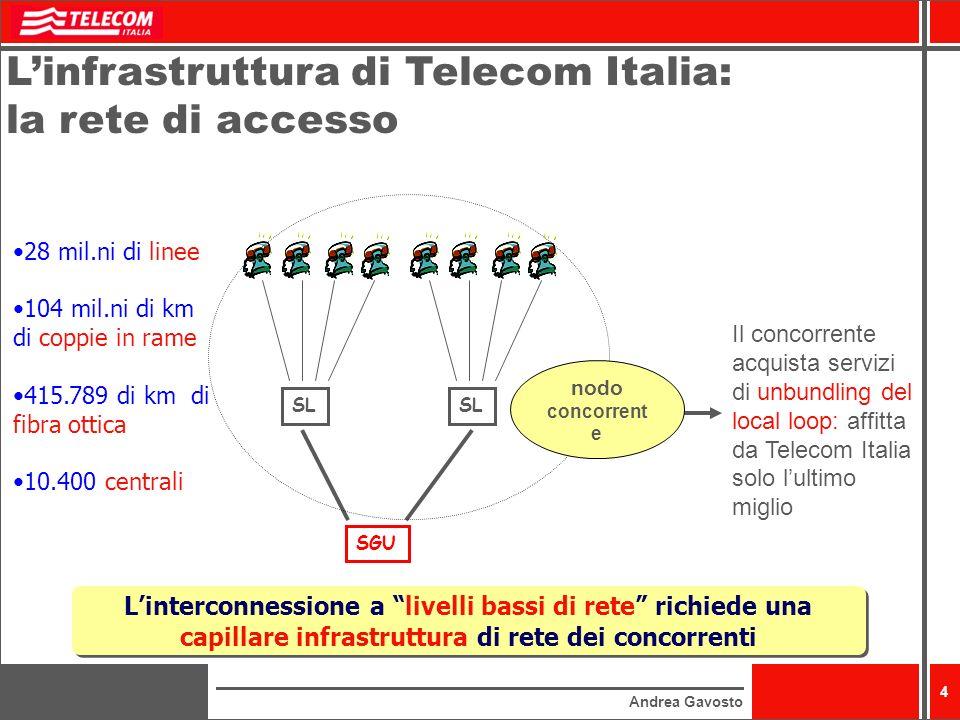 L'infrastruttura di Telecom Italia: la rete di accesso