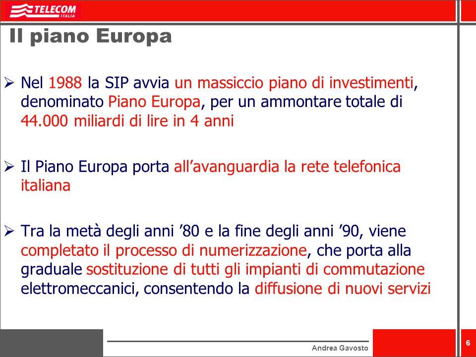 Il piano Europa
