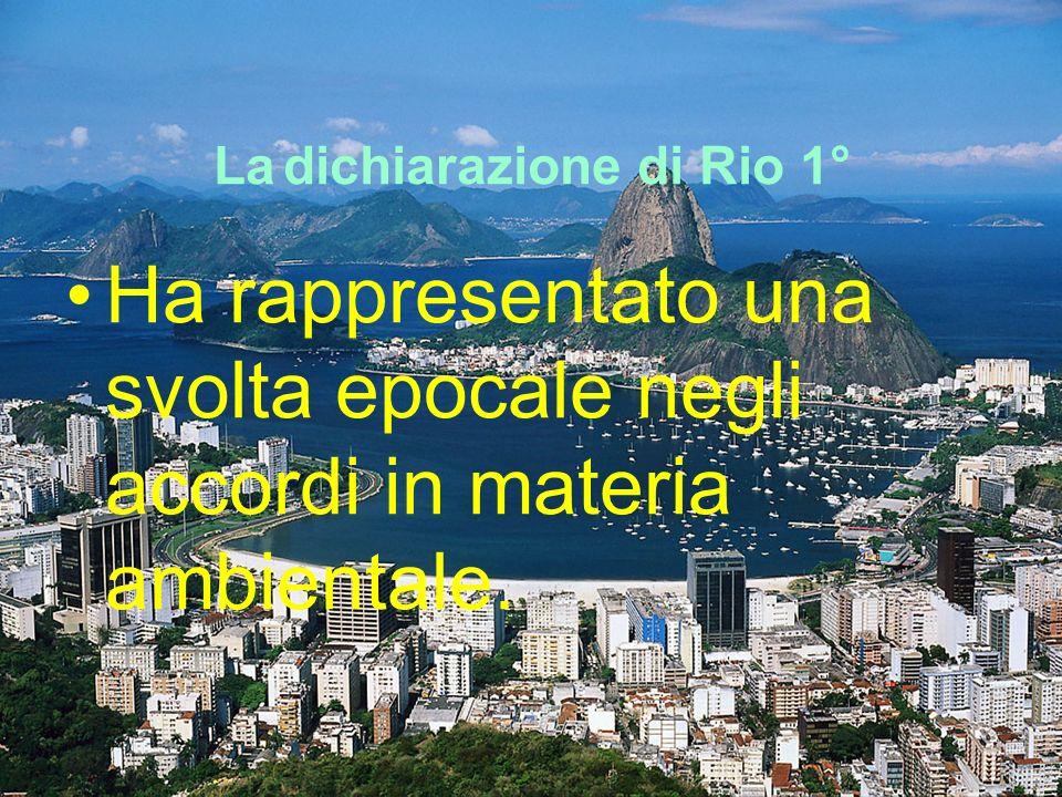 La dichiarazione di Rio 1°