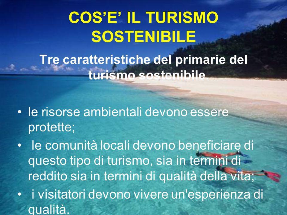COS'E' IL TURISMO SOSTENIBILE