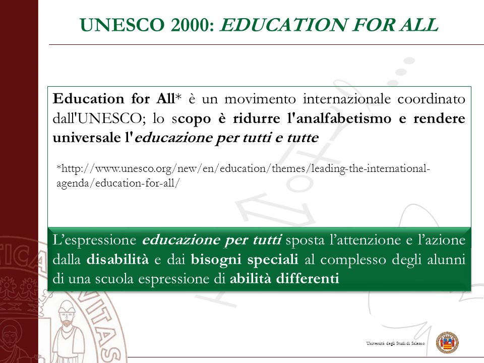 UNESCO 2000: EDUCATION FOR ALL