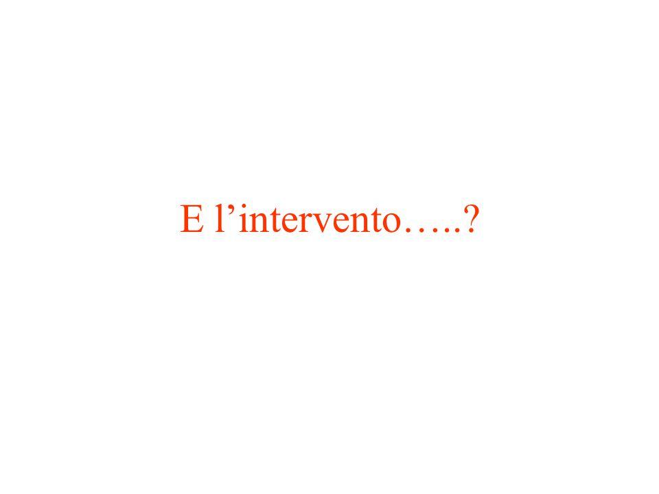 E l'intervento…..