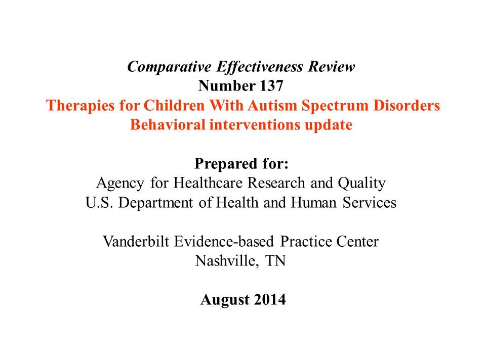 Comparative Effectiveness Review Number 137