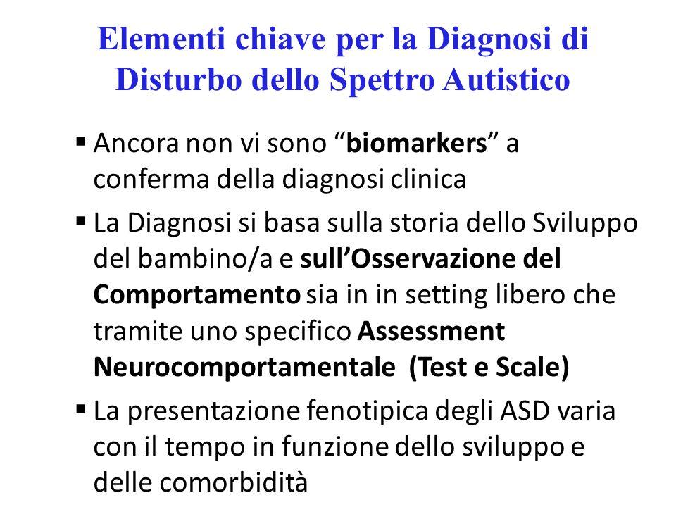 Elementi chiave per la Diagnosi di Disturbo dello Spettro Autistico