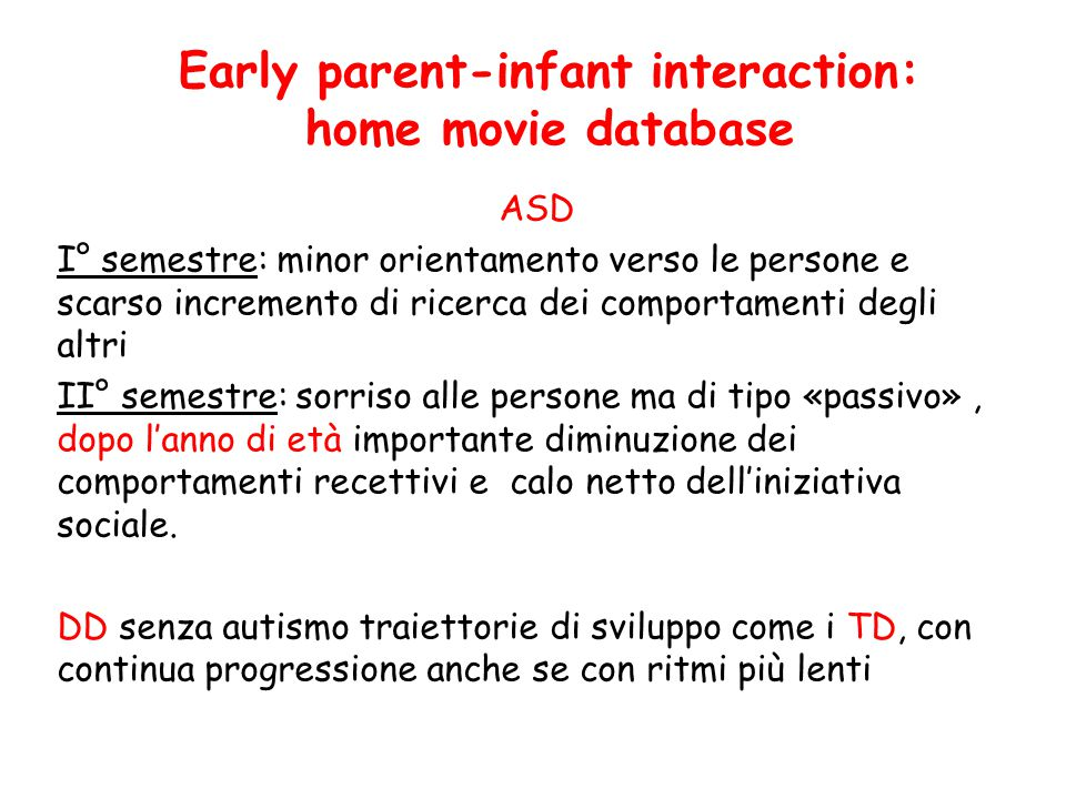 Early parent-infant interaction: home movie database