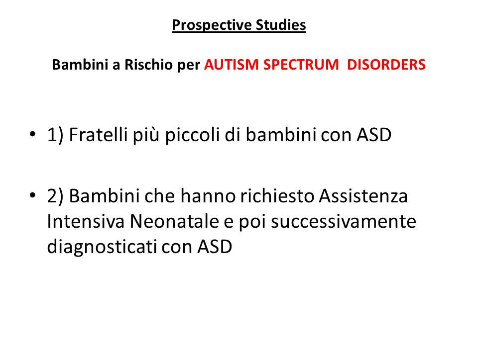 Prospective Studies Bambini a Rischio per AUTISM SPECTRUM DISORDERS