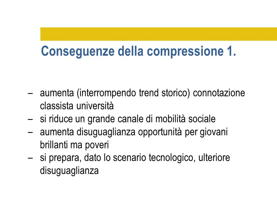 Conseguenze della compressione 1.
