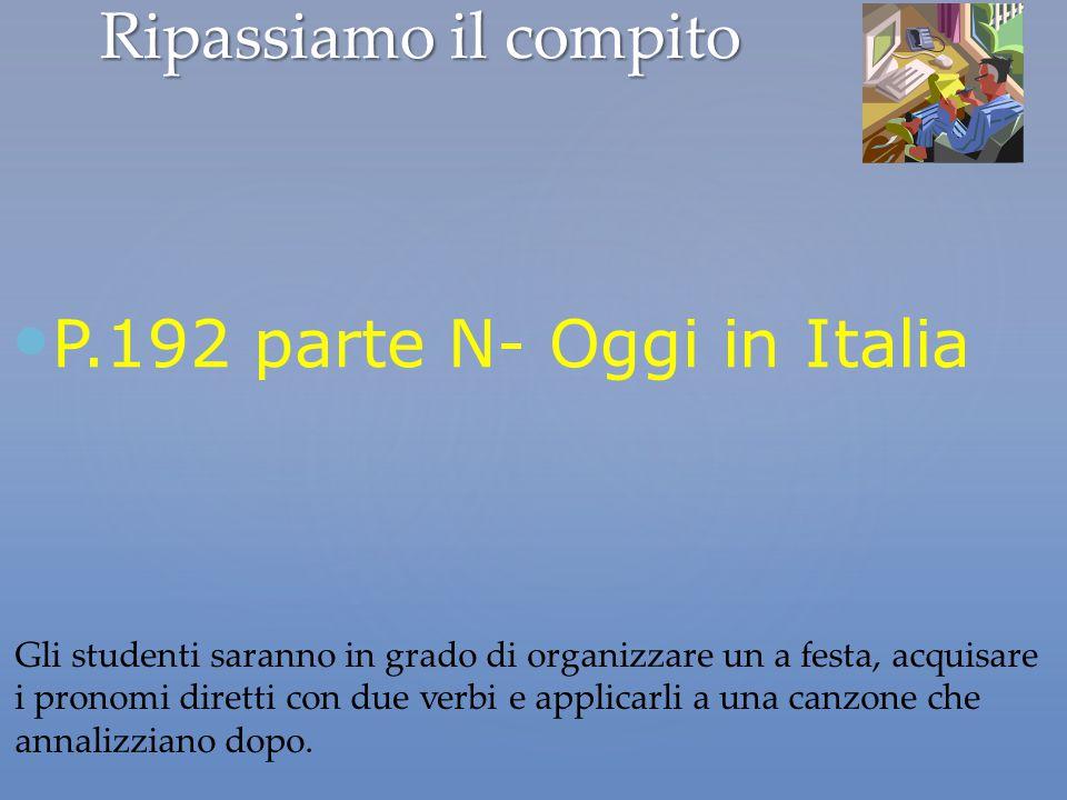 P.192 parte N- Oggi in Italia