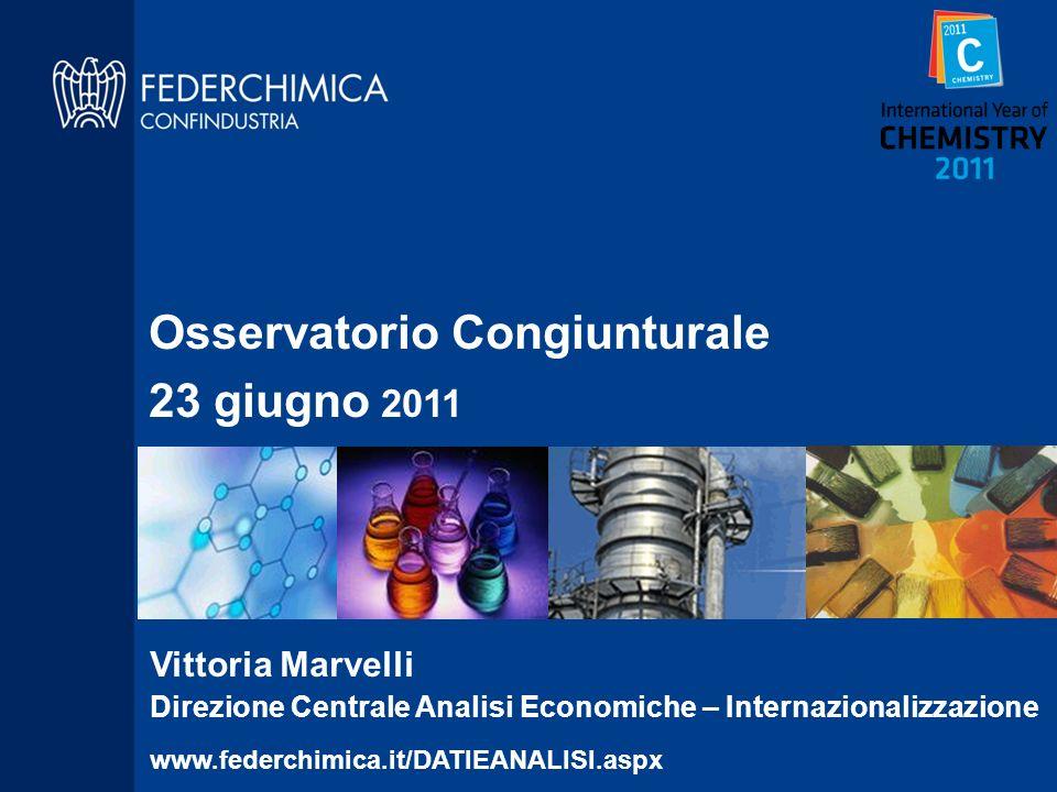 Osservatorio Congiunturale 23 giugno 2011
