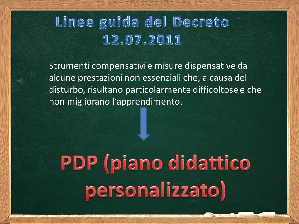 PDP (piano didattico personalizzato)