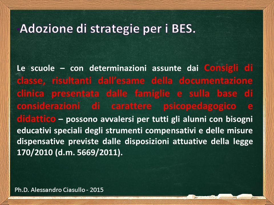 Adozione di strategie per i BES.