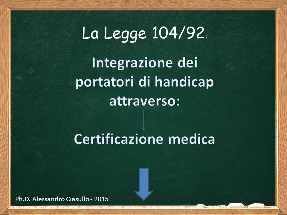 Integrazione dei portatori di handicap attraverso: