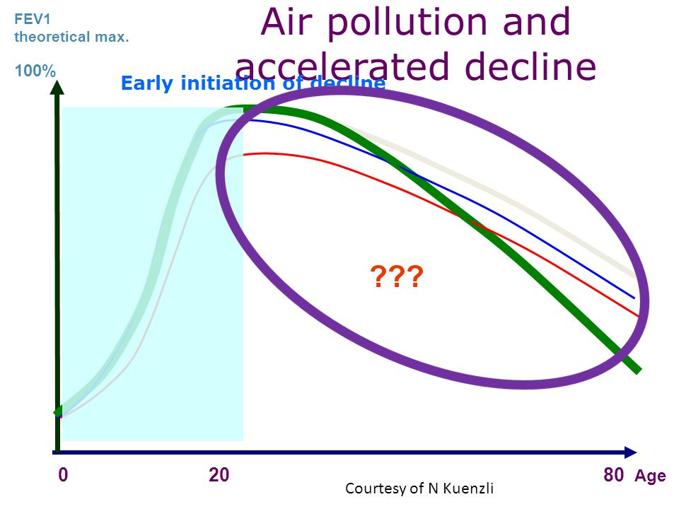 Air pollution and accelerated decline