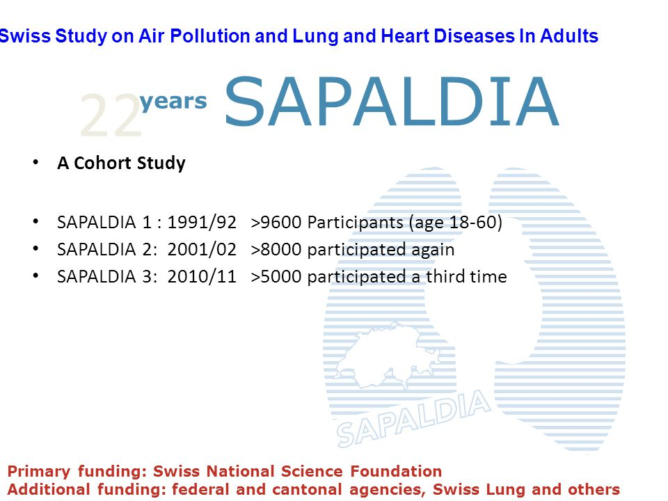 SAPALDIA 22 years A Cohort Study
