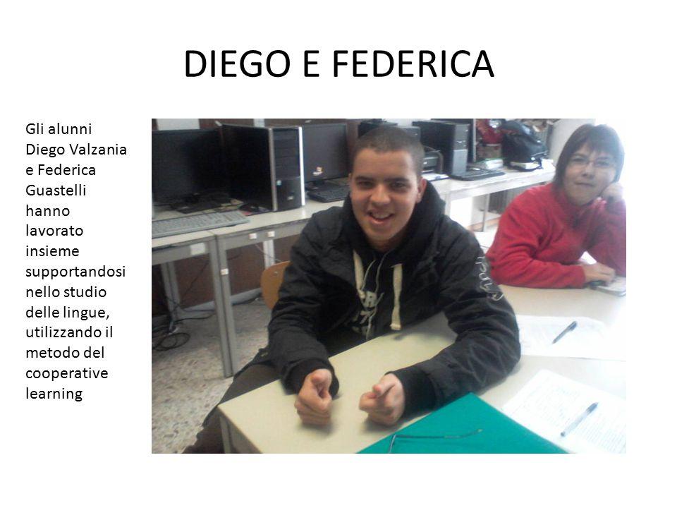 DIEGO E FEDERICA Gli alunni Diego Valzania e Federica Guastelli hanno lavorato insieme.