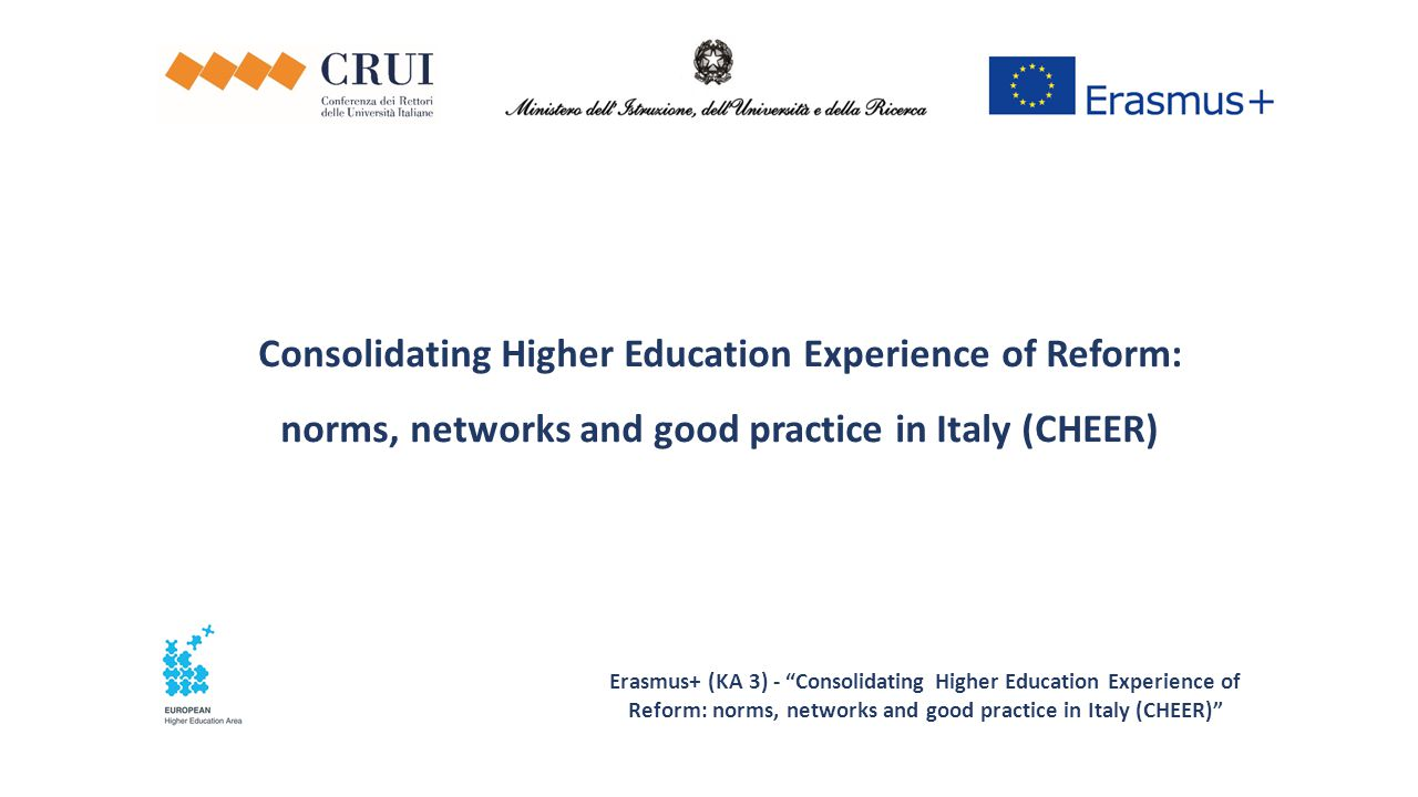 Consolidating Higher Education Experience of Reform: