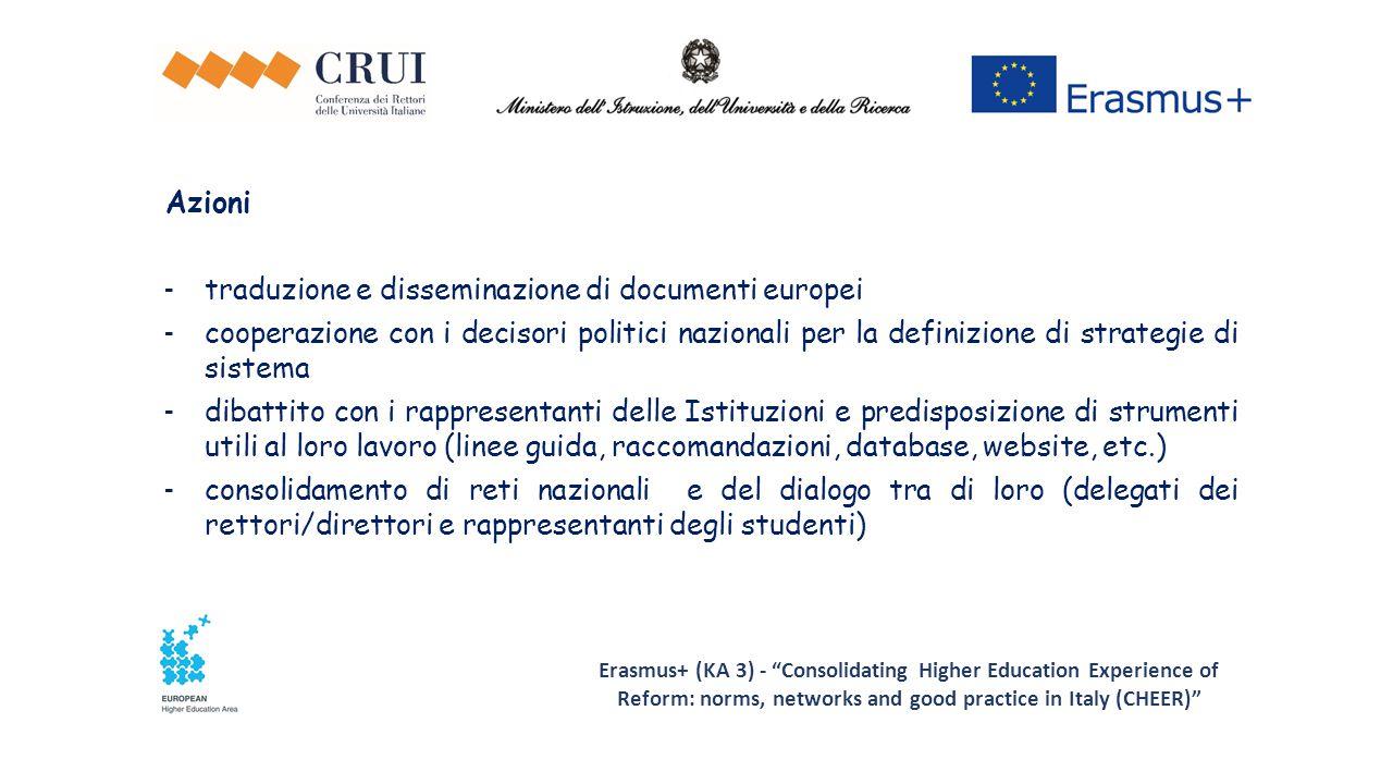 traduzione e disseminazione di documenti europei