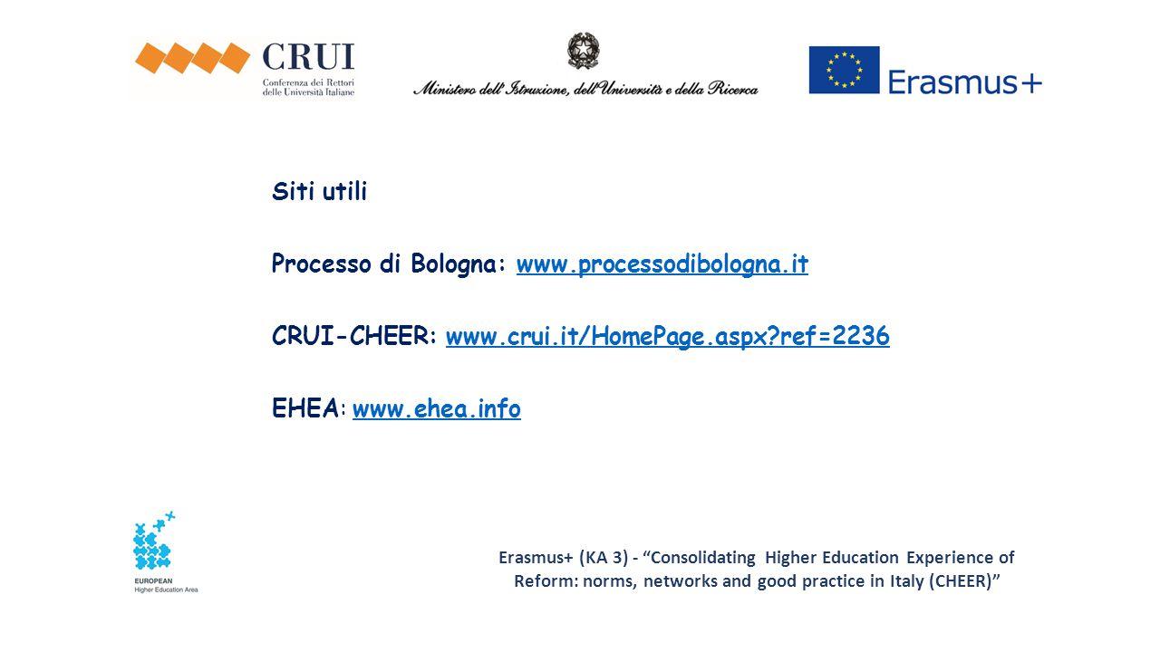 Processo di Bologna: www.processodibologna.it