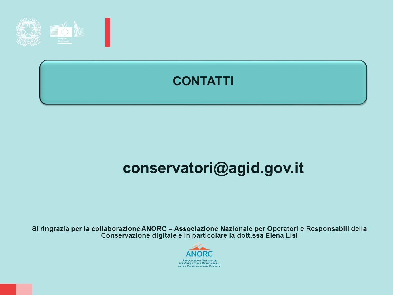 CONTATTI conservatori@agid.gov.it