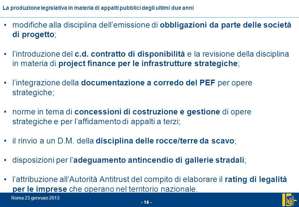 modifiche alla disciplina dell'emissione di obbligazioni da parte delle società di progetto;
