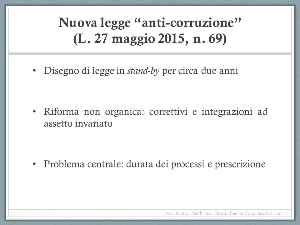 Nuova legge anti-corruzione (L. 27 maggio 2015, n. 69)