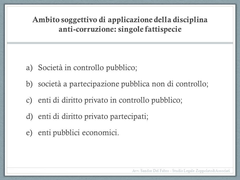 Società in controllo pubblico;