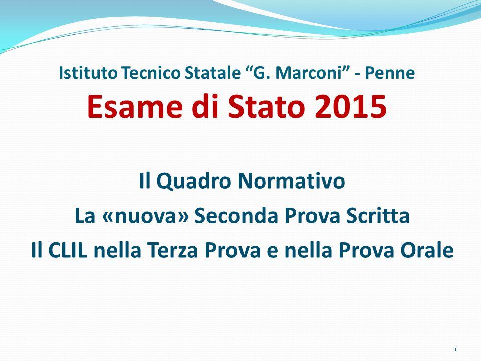 Istituto Tecnico Statale G. Marconi - Penne Esame di Stato 2015