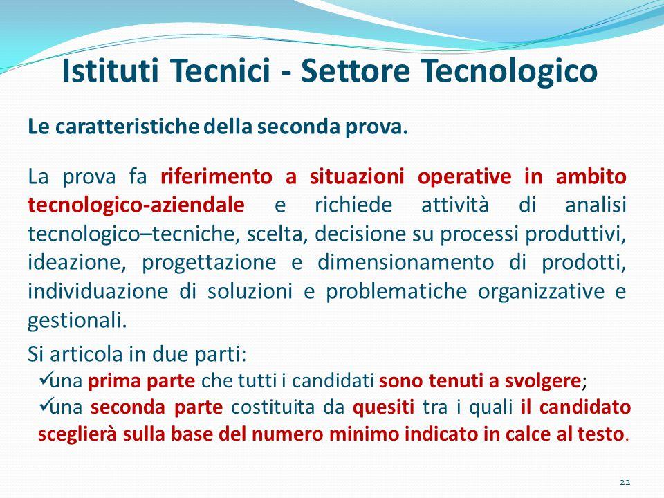 Istituti Tecnici - Settore Tecnologico