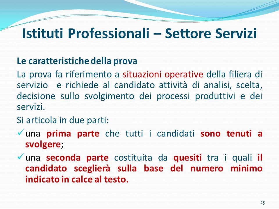 Istituti Professionali – Settore Servizi