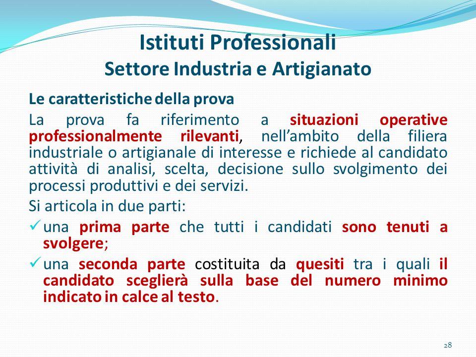 Istituti Professionali Settore Industria e Artigianato