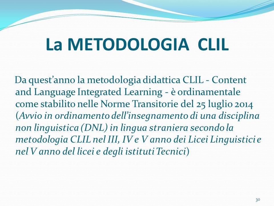 La METODOLOGIA CLIL