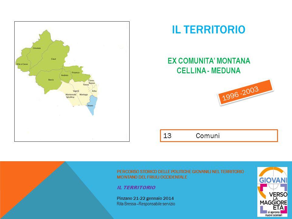 Il territorio ex comunita' montana cellina - meduna