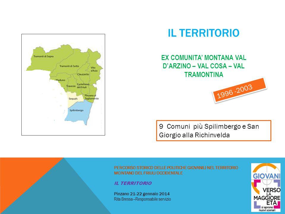 Il territorio ex comunita' montana VAL D'ARZINO – VAL COSA – VAL TRAMONTINA