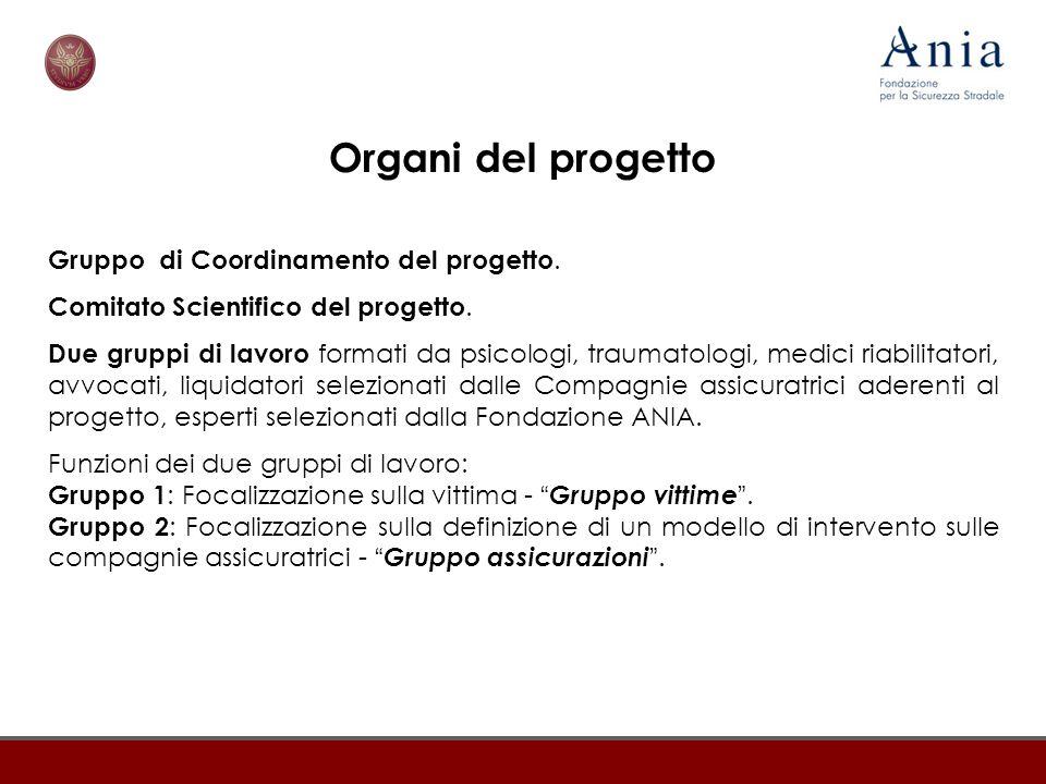 Organi del progetto Gruppo di Coordinamento del progetto.