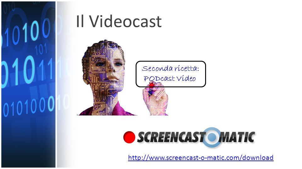 Il Videocast Seconda ricetta: PODcast Video