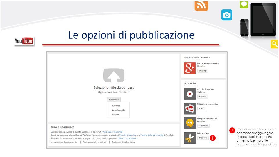 Le opzioni di pubblicazione