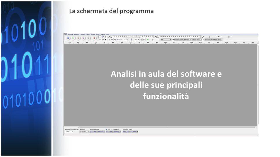 La schermata del programma