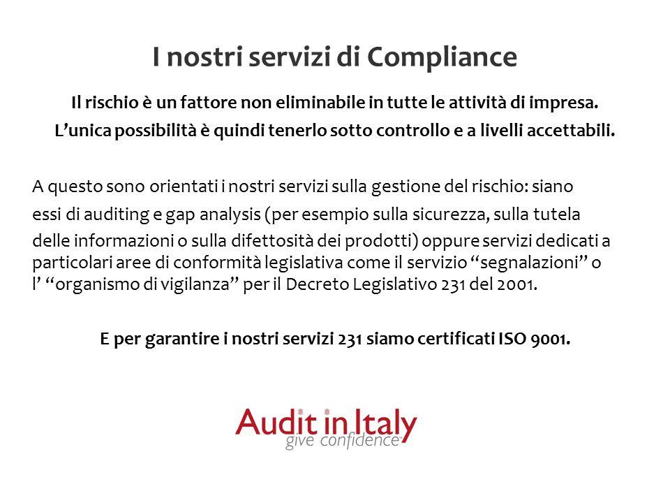 I nostri servizi di Compliance